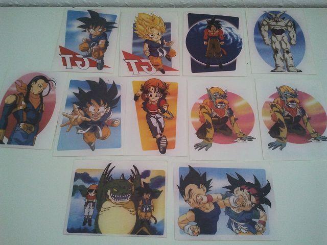 10 Pegatelas Dragon Ball Gt