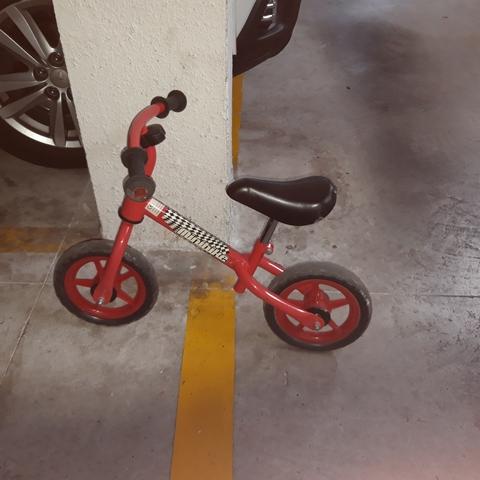 Bici Sin Pedales Roja