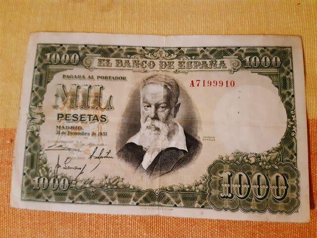 Billete De 1.000 Pesetas De 1951