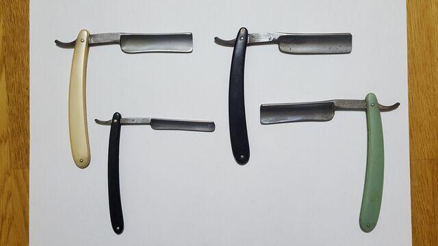 4 Antiguas Navajas De Afeitar De Barbero