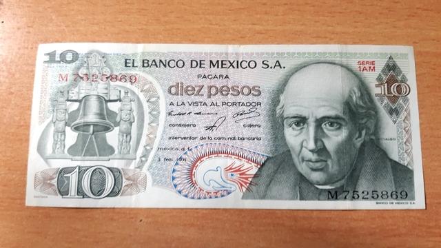 10 Pesos 1971 Bc