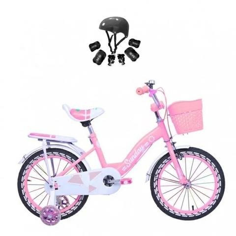 Bicicleta Con Cesta Y Ruedines