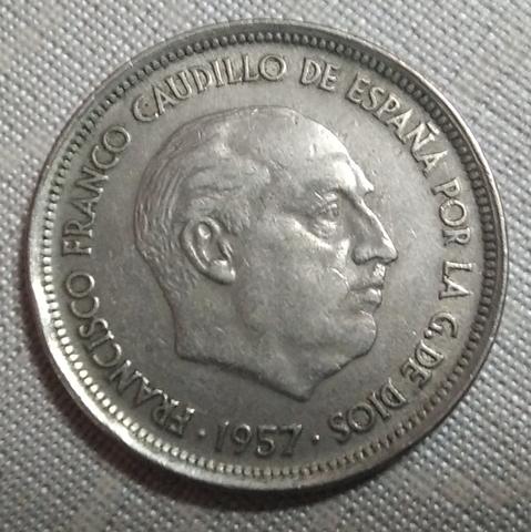 Moneda Española 50 Pts*58 Año 1957