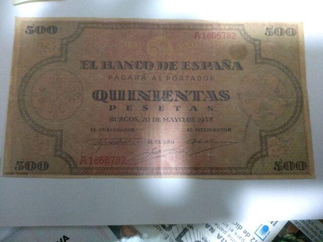 Billete De 500 Pesetas Y Decimo Loteria