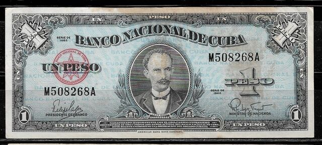 Billete Cuba 1 Peso