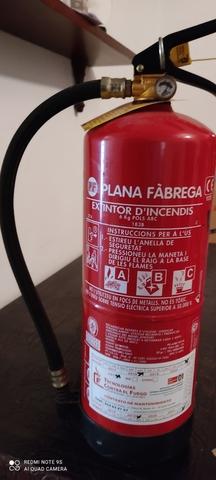 Extintor ,  Cambio