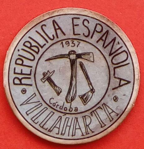 Cartón Moneda De Villaharta 1937