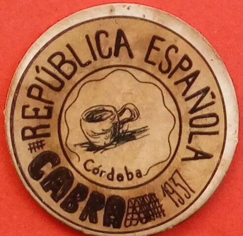 Cartón Moneda De Cabra 1937