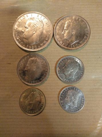Colección Completa 6 Monedas Mundial 82