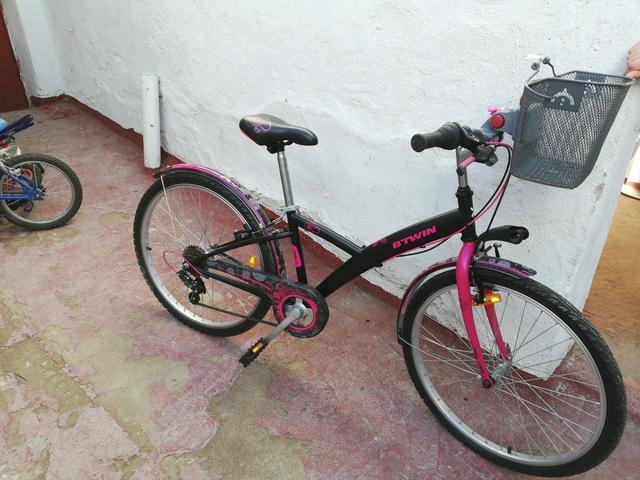 Bicicleta Llanta 24 Cesta Transportín