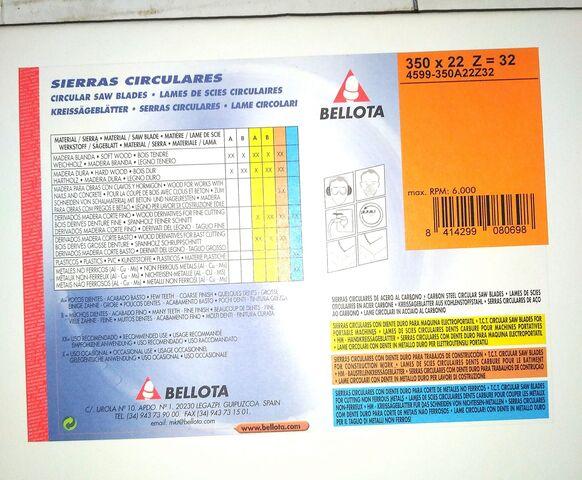 Discos Sierra Corte Mesa Madera Bellota
