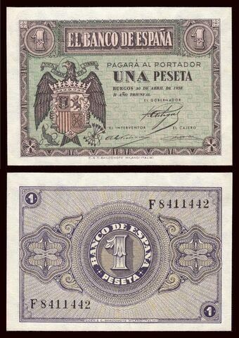 Billete España 1 Peseta