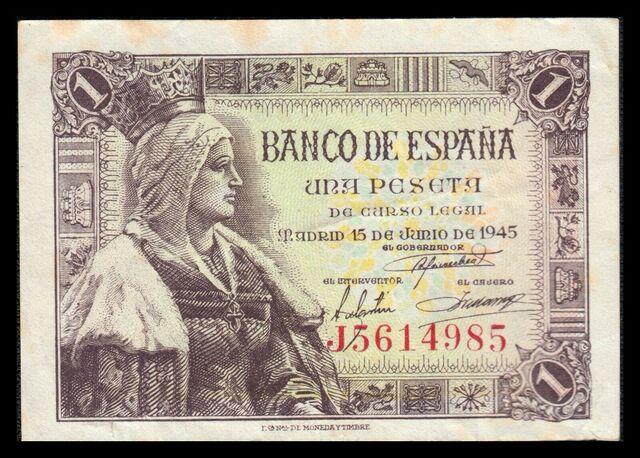 Billete España 1 Peseta 1945
