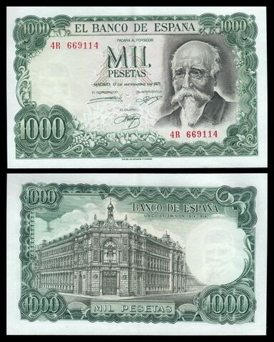 España 1000 Pesetas 1971