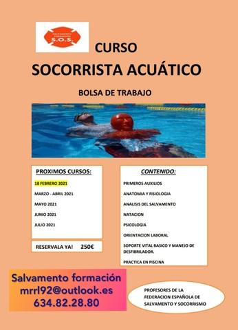 SOCORRISTA ACUÁTICO CURSO Y CONTRATACIÓN - foto 1