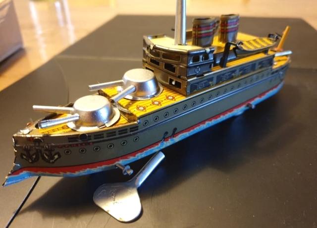 Barco Acorazado Destructor Chapa A Cuerd