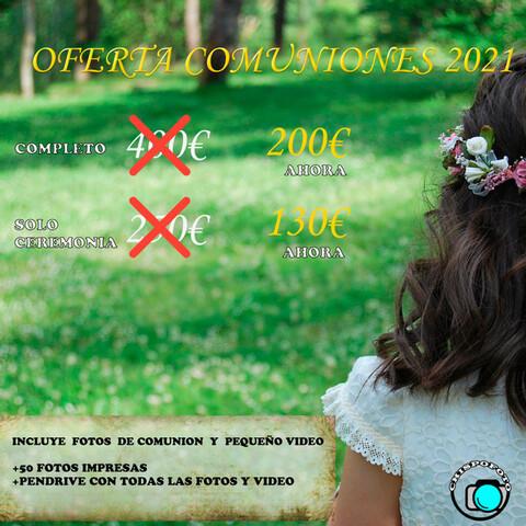 FOTOGRAFIA Y VIDEO PARA COMUNIONES 2021 - foto 1