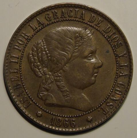 2 1/2 Céntimos 1866 + 10 Medallas Vatica