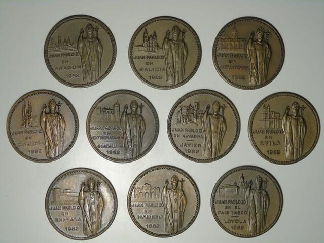 10 Medallas Raras Vaticano