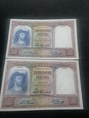 Billetes De 500 Pesetas