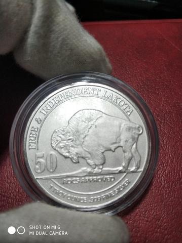 Moneda 1 Onza Plata Lakota / Bisonte