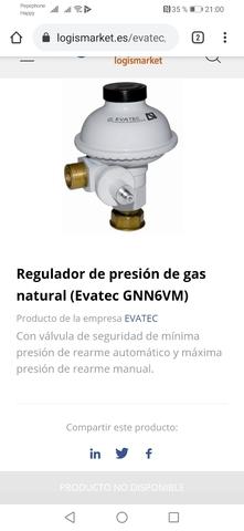 Regulador De Presión De Gas Natural