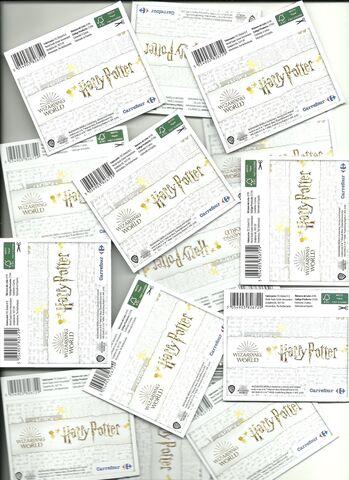 150 Sobres Colección Harry Potter