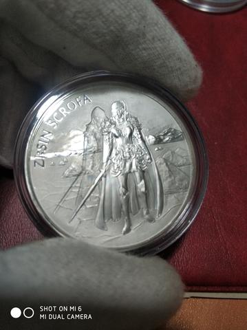 Moneda 1 Onza Plata Scrofa Serie Zi-Sin