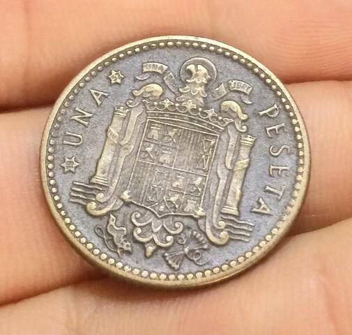 Moneda 1 Peseta 1947-52 Franco