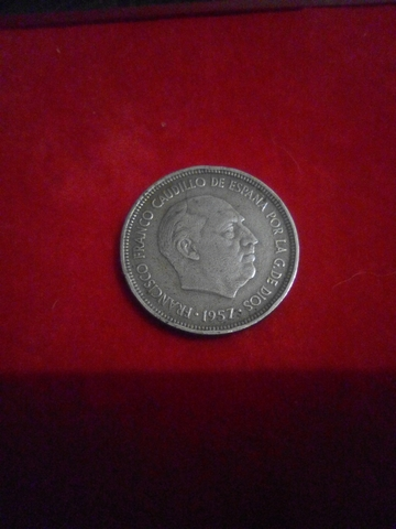Monedas Cinco Pesetas De Franco 1957