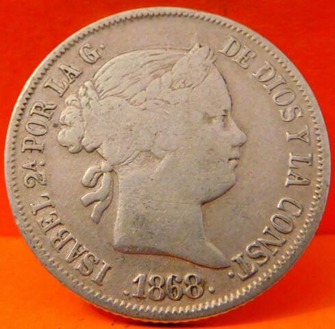 España Filipinas 2O Centavos De Pesos