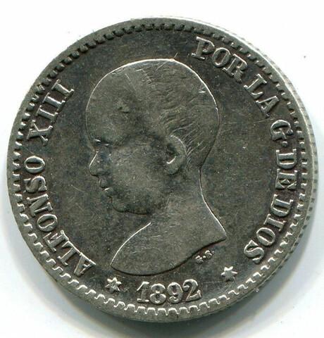 Moneda Alfonxiii 1892