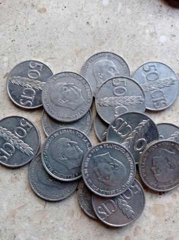 15 Monedas De 50 Pesetas