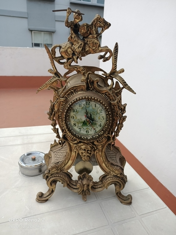 Reloj Antiguo Portugués En Bronce