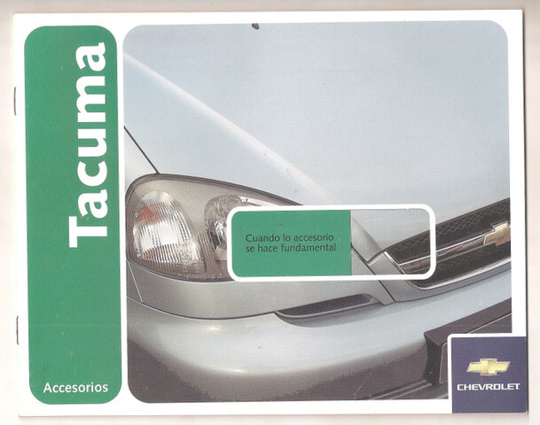 Catálogo Accesorios Del Chevrolet Tacuma