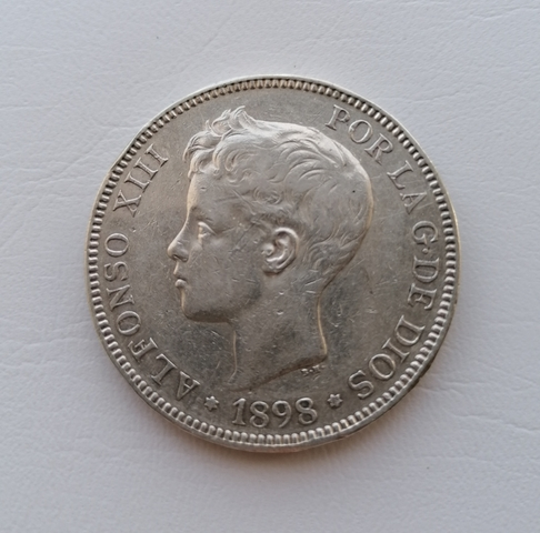 España 5 Pesetas Alfonso Xiii 1898 *98