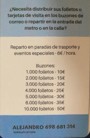 REPARTO DE FLYERS,  REVISTAS,  PERIÓDICOS - foto 1