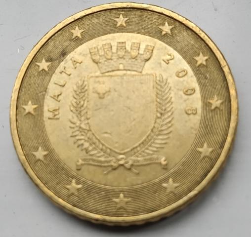 Moneda De 50 Céntimos De Malta