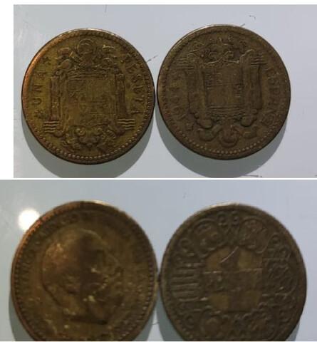 Lote Pesetas Año 1944 1947