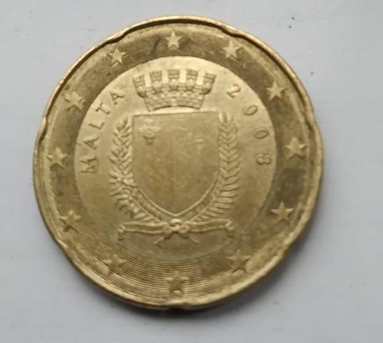 Moneda 20 Céntimos De Euro Malta