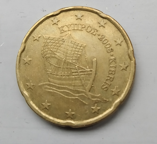 Moneda 20 Céntimos De Euro Chipre