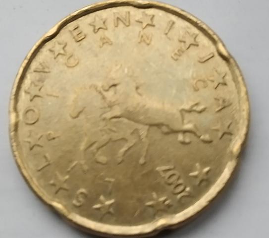 Moneda 20 Céntimos De Euro Eslovenia
