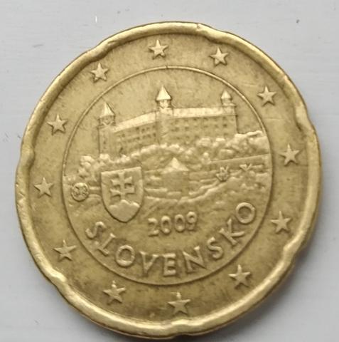 Moneda 20 Céntimos De Euro Eslovaquia