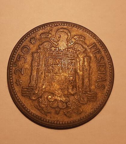 Moneda De 2,5 Pesetas De 1953