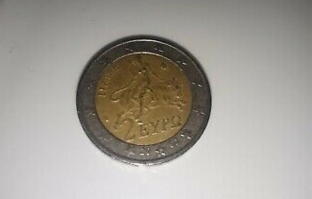 Moneda 2 Euros Grecia Año 2002