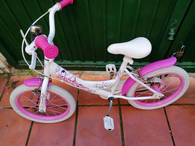 Bicicleta Rosa Para Niña