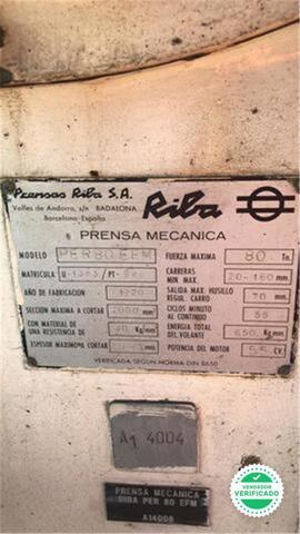 PRENSA MECANICA 80 TONELADAS RIBA - foto 5