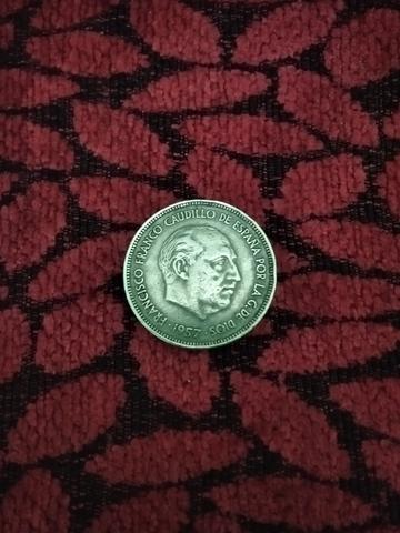 Moneda De 25 Peseta De 1957 Franco