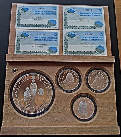 Monedas Plata 250 Gr, Borbones 1997