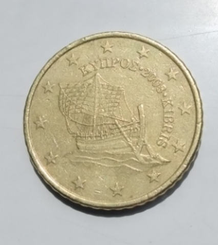 Moneda 50 Céntimos De Euro Chipre 2008